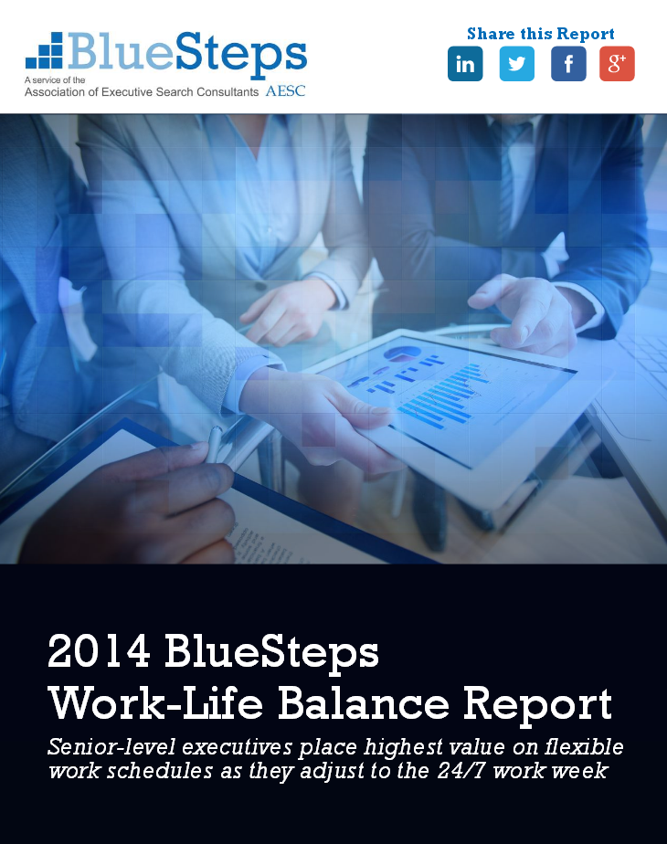 2014 BlueSteps Work-Life Balance Report