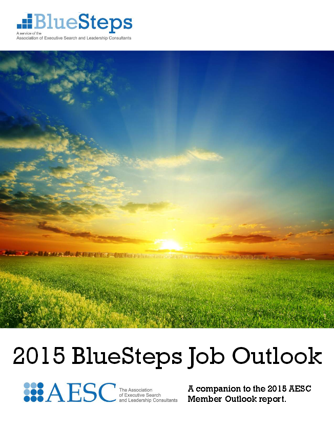 2015 BlueSteps Job Outlook Report