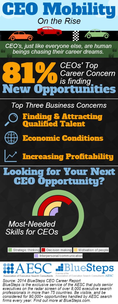 CEO Mobility on the Rise Infographic