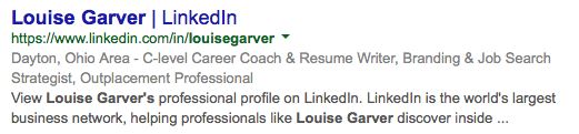 LinkedIn on Google