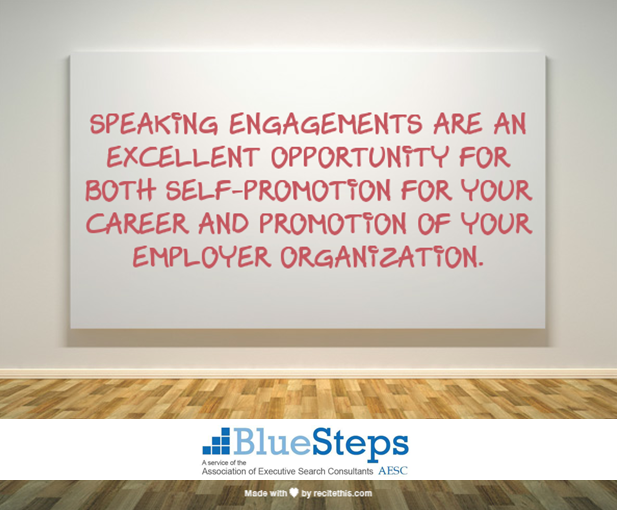 Speaking Engagements for Executive Job Search