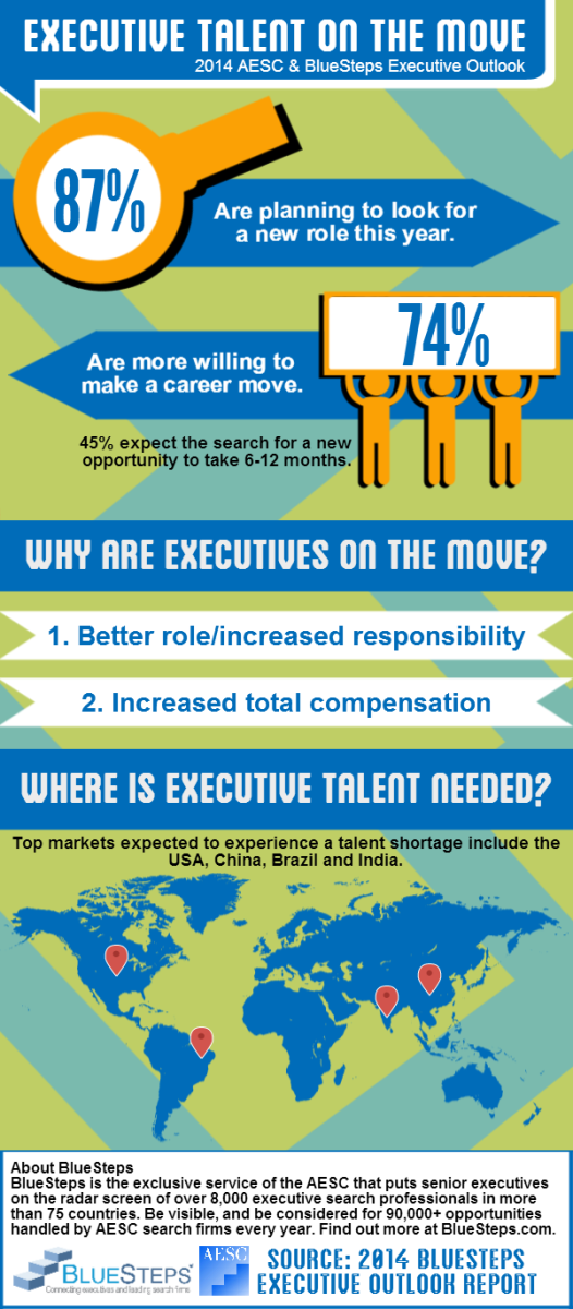 Executive Job Search Outlook Infographic